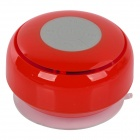 Q2 Waterproof 3W Bluetooth V2.1 Speaker w/ Microphone - Red + Transparent