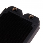 WT-011 Double 12cm Copper 1/4G Thread Radiator / Cooling Gear - Black
