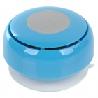 Q2 Waterproof 3W Bluetooth V2.1 Speaker w/ Microphone - Blue + Transparent