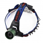 Sipids SP41 Cree XM-L T6 650lm 3-Mode White Zooming Focus Headlight - Black + Green (2 x 18650)