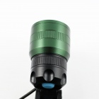 Sipids SP41 LED 3-Mode White Zooming Focus Headlight - Black + Green (2 x 18650)