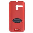 Protective Matte PC Case for Motorola G - Red