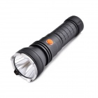 Bronte X26 CREE XM-L2 T6 5-Mode 900LM Cool White Flashlight w/ Clip - Black (1 x 26650)