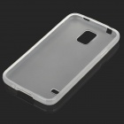 Simple Plain Matte TPU Back Case for Samsung Galaxy S5 i9600 - Translucent White
