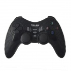 Relax R-V6 2.4GHz Dual-Shock Wireless Game Joypad Controller w/ USB Receiver for PC - Black (3xAAA)