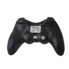 Relájese R-V6 de 2,4 GHz Dual-Shock Wireless Game Controller Joypad w / receptor USB para PC - Negro (3 x AAA)