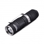 Bronte RC10-T CREE XP-G2 R5 4-Mode 220LM Cool White Flashlight w/ Clip - Black (1 x 16340 / CR123)