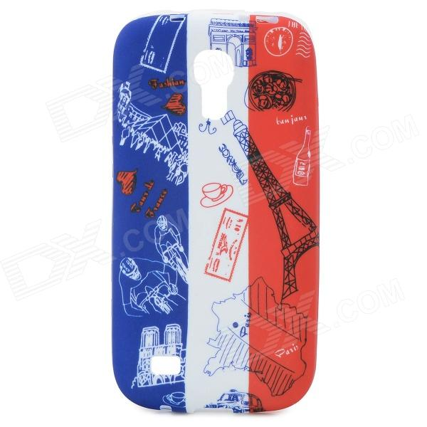 French National Flag + Eiffel Tower Pattern Protective TPU Case for Samsung Galaxy S4 Mini i9190 xincuco thin pp hard phone case for iphone 7 4 7 orange