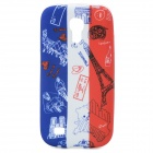 French National Flag + Eiffel Tower Pattern Protective TPU Case for Samsung Galaxy S4 Mini i9190