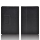 Hand Support Protective PU Leather Case w/ Auto Sleep Cover for Kobo Arc 7 HD - Black