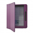 Protective PU Leather Case Cover Stand for Pocketbook Color Lux - Purple