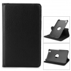 Lichee Pattern Protective Rotation PU Leather Case for Samsung T320 / T321 / T325 - Black