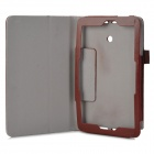 Protective Flip-open PU Case w/ Stand + Pen Holder for ASUS VivoTab Note 8 / M80TA - Brown