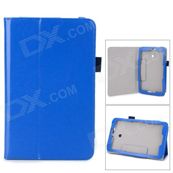 Protective Flip-open PU Leather Case w/ Stylus for Asus VivoTab Note 8 - Blue original and new 8inch lcd screen claa080wq065 xg for tablet pc free shipping