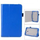 Protective Flip-open PU Leather Case w/ Stylus for Asus VivoTab Note 8 - Blue