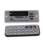 Bluetooth MP3 Decoder Board w/ FM / Stereo Amplifier - Silver + Black