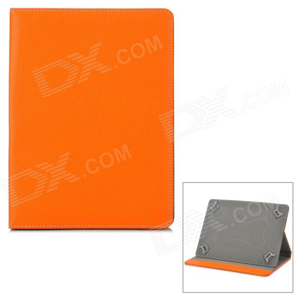 Universal Protective PU Leather Case for 9~10 Tablet PC - Orange + Grey universal 61 key bluetooth keyboard w pu leather case for 7 8 tablet pc black