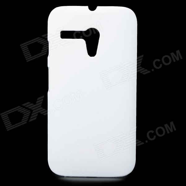 Protective Matte PC Case for Motorola G - White