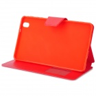 Protective Flip-open PU Leather Case w/ Holder + Card Slot for Samsung Galaxy Tab Pro - Red