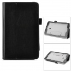 Flip-open PU Case w/ Stand + Pen Holder for ASUS VivoTab Note 8 / M80TA - Black