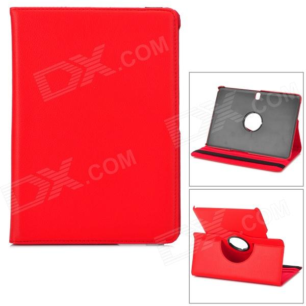 Flip-open PU Case w/ Holder + 360' Rotating Back + Auto Sleep for Samsung Galaxy Tab Pro T520 - Red stylish flower pattern flip open pu leather case w holder 360 rotating back for ipad 2 3 4