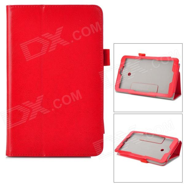 Flip-open PU Case w/ Stand + Pen Holder for ASUS VivoTab Note 8 / M80TA - Red - DXTablet Cases<br>Color Red Brand N/A Quantity 1 Piece Shade Of Color Red Material PU Compatible Brand Asus Compatible Size 8 inch Style BusinessCasualFashionContemporary Compatible Model ASUS VivoTab Note 8 / M80TA Type Cases with StandLeather Cases Packing List 1 x Case<br>