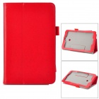 Flip-open PU Case w/ Stand + Pen Holder for ASUS VivoTab Note 8 / M80TA - Red