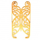 Hollowed Butterfly Style ABS Back Case for IPHONE 5 / 5S - Golden + Silver