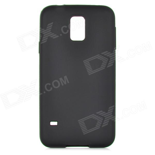 Protective Silicone Back Case for Samsung Galaxy S5 - Black promate akton s5 чехол накладка для samsung galaxy s5 black