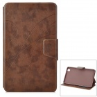 Protective Flip-open PU Leather Case w/ Holder + Card Slot for Samsung Galaxy Tab Pro - Brown