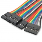 LSON Female to Female Breadboard Jumper DuPont Cable - White + black + red + blue + yellow (28 PCS)