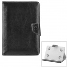 "Stylish Flip-open PU Leather Case w/ Holder for 7"" / 8"" Tablet PC - Black"