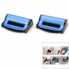 020 Universal Plastic Car Safety Belt Clips for Ford - Black + Blue (2 PCS)