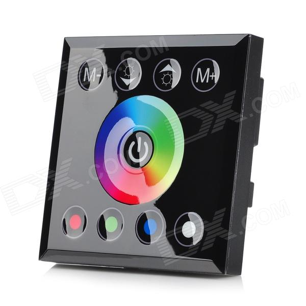 TM08RGBW 4-CH LED RGB Light Strip Touch Panel Controller - Black (DC 12~24V) lt 3500 6a led rgb music controller dc5 24v input max 6a 3channel output support audio line with ir remote control diy effect