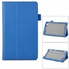 Flip-open PU Leather Case w/ Stand + Card Slot + Hand Band for Samsung Tab3 Lite7 T110 - Blue