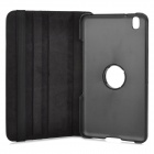 Flip-open PU Leather Case w/ Holder + 360' Rotating Back for Samsung Galaxy Tab Pro - Black