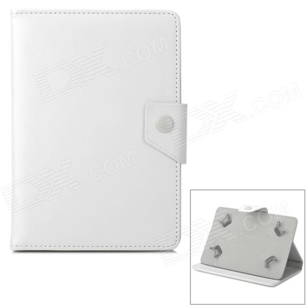 Stylish Flip-open PU Leather Case w/ Holder for 7 / 8 Tablet PC - White stylish flip open pu leather case w holder for 7 8 tablet pc black