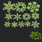 Christmas Snowflake DIY Decoration PVC Noctilucent Wall Sticker (12 PCS)