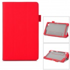 Ultrathin 3-Fold PU Leather Protective Case for Samsung Tab Pro T320 / T321 / T325 - Red