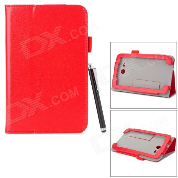asus vivotab note 8 купить Stylish Flip-open PU Case w/ Holder + Stylus for ASUS VivoTab Note 8 / M80TA - Red