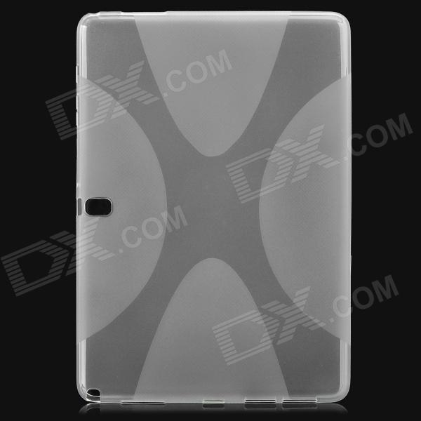 цена на IKKI Flexible X Pattern Anti-slip TPU Back Case for Samsung Galaxy Note P900 - Translucent White