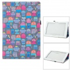 Cute Cartoon Owl Pattern Protective PU Leather Case for Sony Xperia Tablet Z - Multicolored