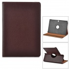Stylish Flip-open PU Case w/ Holder + 360' Rotating Back for Samsung P900 / P901 / P905 - Brown
