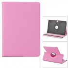 Stylish Flip-open PU Case w/ Holder + 360' Rotating Back for Samsung P900 / P901 / P905 - Pink