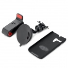 SUNSHINE PC 360 Degree Rotary Stand + Clip + Bracket for MOTO G - Black
