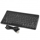 "Universell 10"" Ultrathin trådløs Bluetooth V3.0 tastatur for Samsung, APPLE MACBOOK - svart"