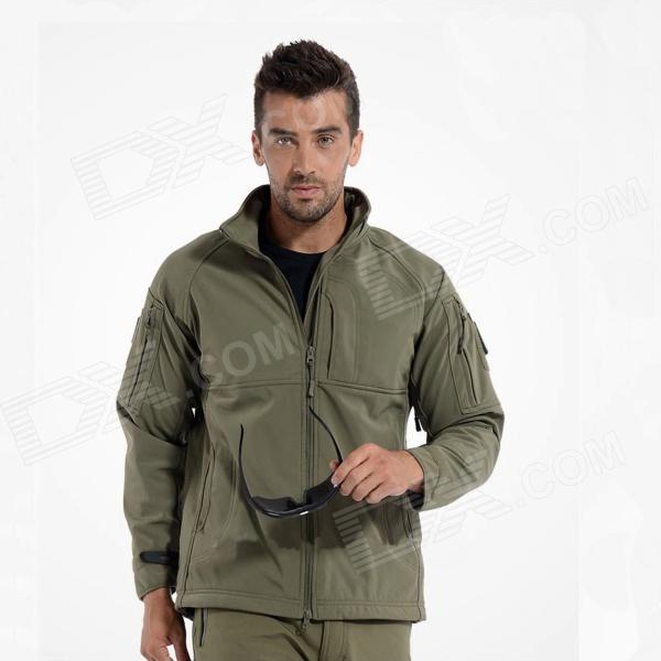 ESDY ESDY-0105 Outdoor Sports Waterproof Warm Polyester Jacket for Men - Army Green (Size-XXL)