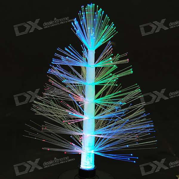 USB/3*AAA Powered Colorful LED Desktop Christmas Tree