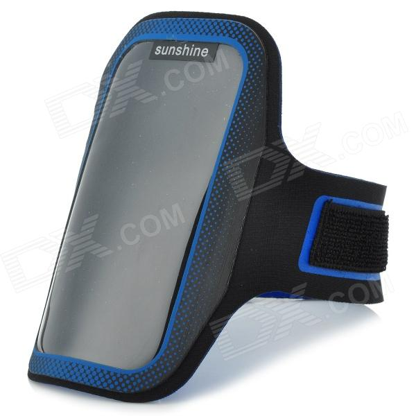 Sunshine Sports Protective PVC + Neoprene Armband Case for Motorola Moto G / DVX - Blue + Black