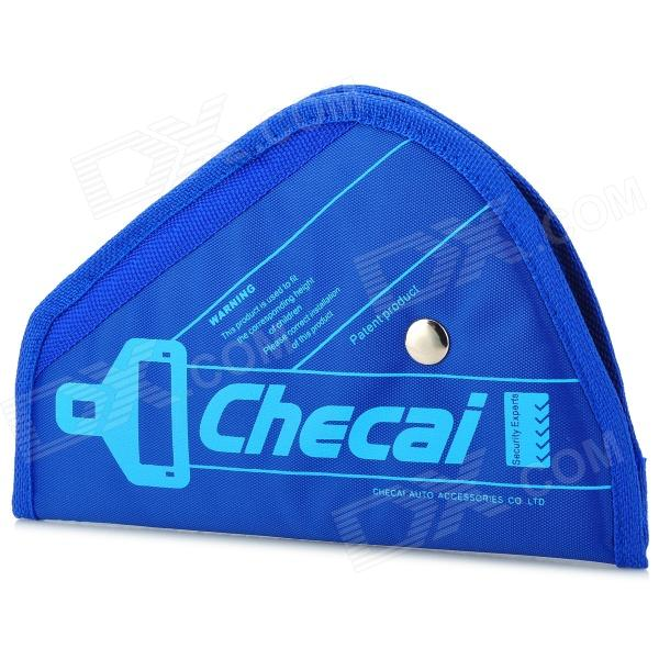 CHECAI Triangle Oxford + Sponge Car Safety Belt Fixing Shoulder Pad for Kids - Blue kid s triangle shaped safety belt fastener for car blue